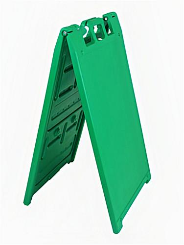 Double sided outdoor a-frame sign stand in green