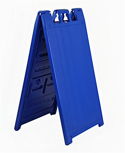 Double sided outdoor a-frame sign stand in blue