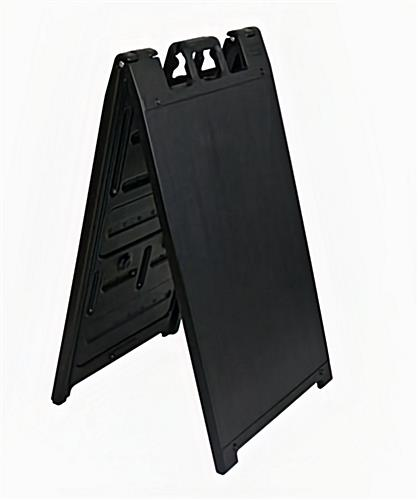 Double sided outdoor a-frame sign stand in black