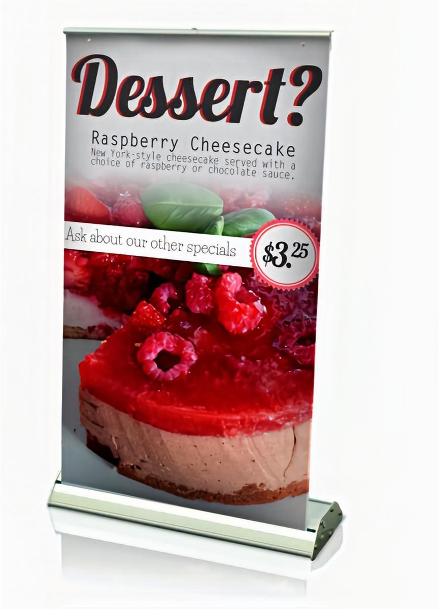 Custom printed retractable table banners