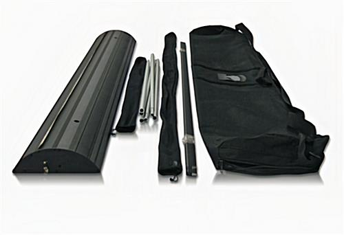 Banner stand hardware and carrying case.