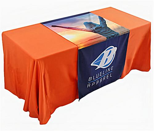 Custom printed table runner for events