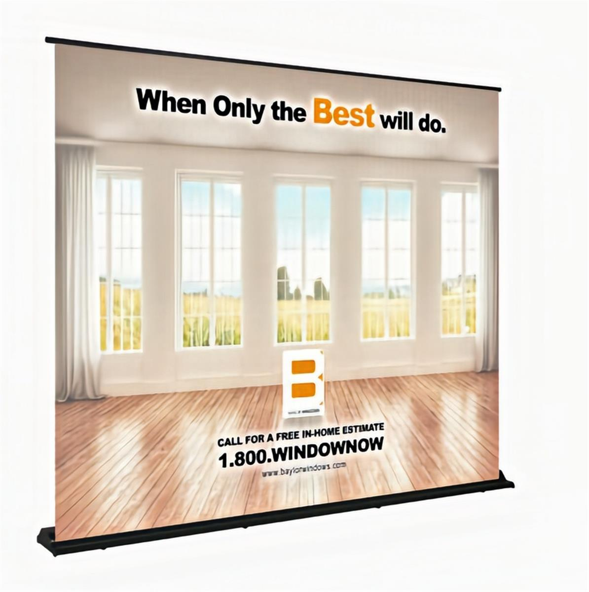 Custom printed retractable backdrop display