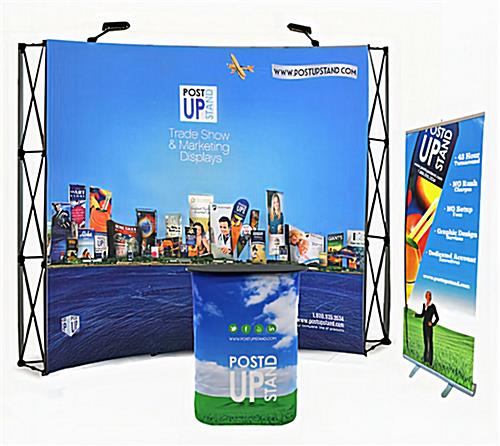 Budget trade show booth package with coordinating printing.