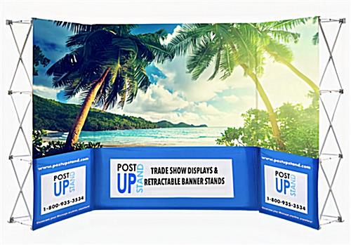 Trade show backwall package with printed graphics