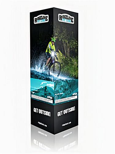 High rise trade show display tower with custom graphics
