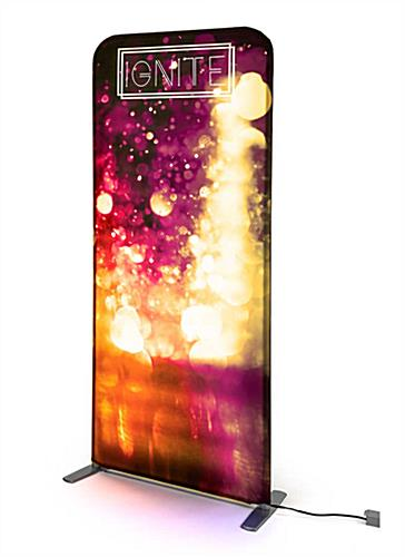 Ignite tension fabric banner stand with light up frame