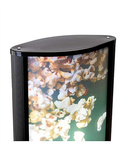Floor standing rotating LED light box with printed graphics
