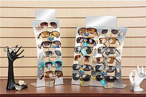 Sunglasses Rack  sunglasses rack silver tabletop display for 6 pairs