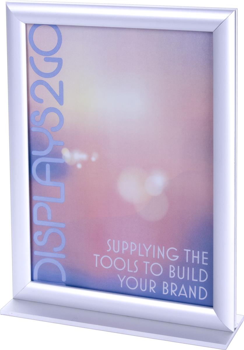 8 5 X 11 Stand Up Sign Holder Fixed In Portrait Orientation
