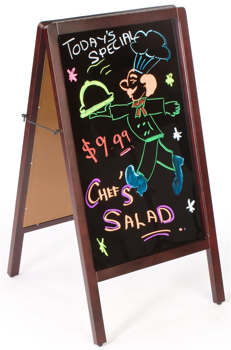 Top Chalkboard A-Frame | Double Sided Outdoor Menu Display JQ43