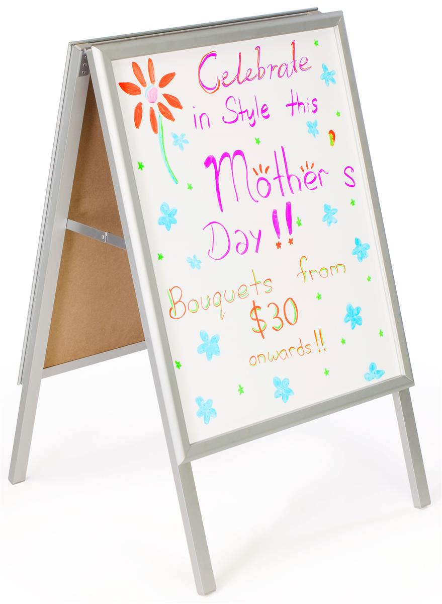 Displays2go 22 x 28 Write-on Sidewalk Sign, White Surface...