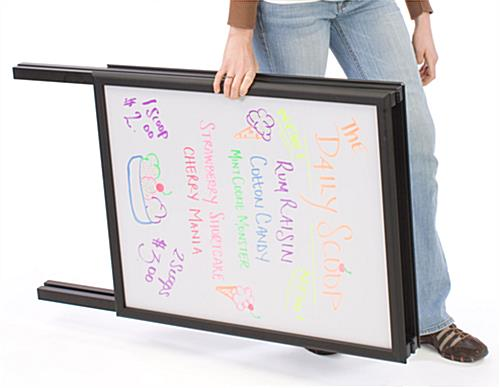 Write-On White Boards, Black Aluminum Frame