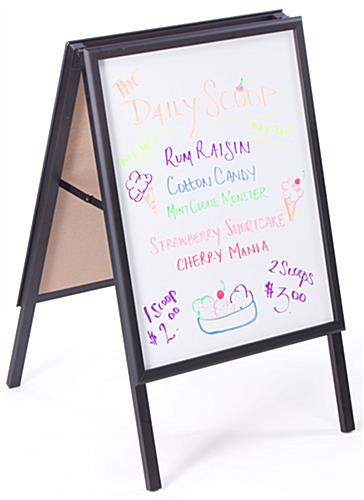 A Frame Signs | Write-On White Boards, Black Aluminum Frame