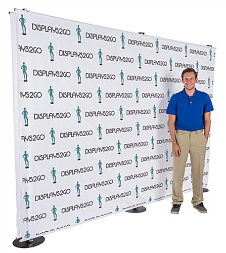 10' x 7' Floor Standing Custom Step and Repeat Backdrop