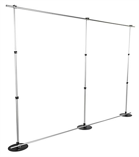 Expo Stand Backdrop : Banner backdrop stand white polyester fabric