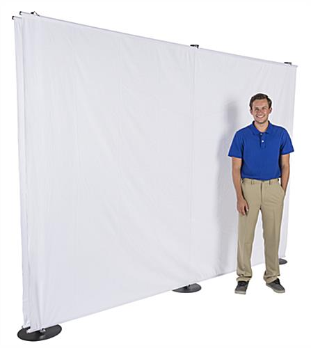 10' Banner Backdrop Stand with Metal Bases