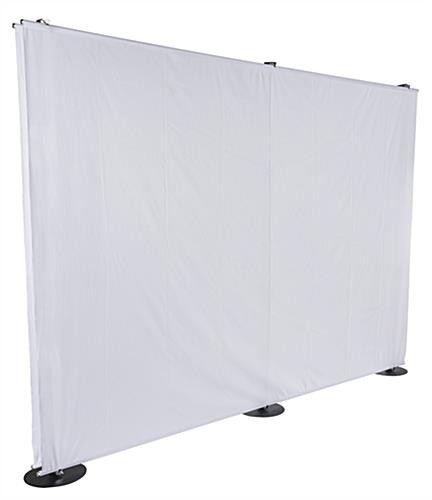 10' Banner Backdrop Stand with Two White Fabric Panels