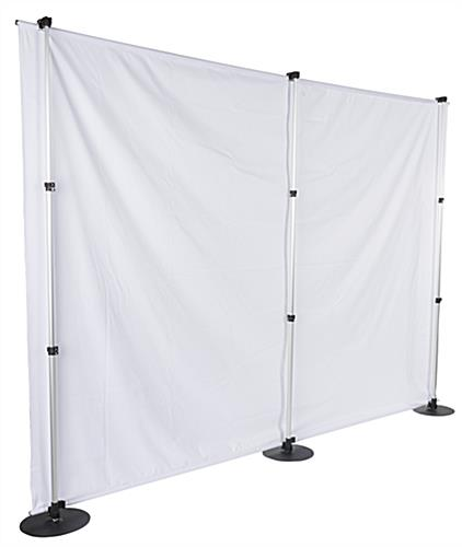 Single-Sided Backdrop Banner Stand with White Panel