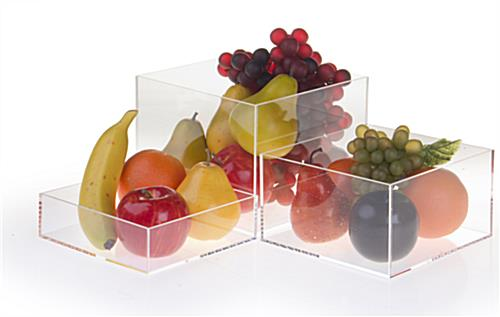 Clear Acrylic Cube Set with Polished Edges
