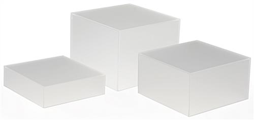 Frosted Cube Riser Set of 3