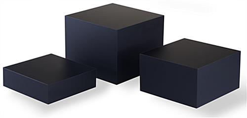 Matte Black Acrylic Cube Set of 3
