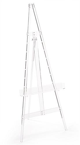 Adjustable acrylic artist easel with anti-wobble feet