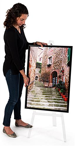 Non-folding acrylic A frame floor easel with stable structure