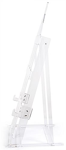 H frame acrylic easel stand with anti-wobble design