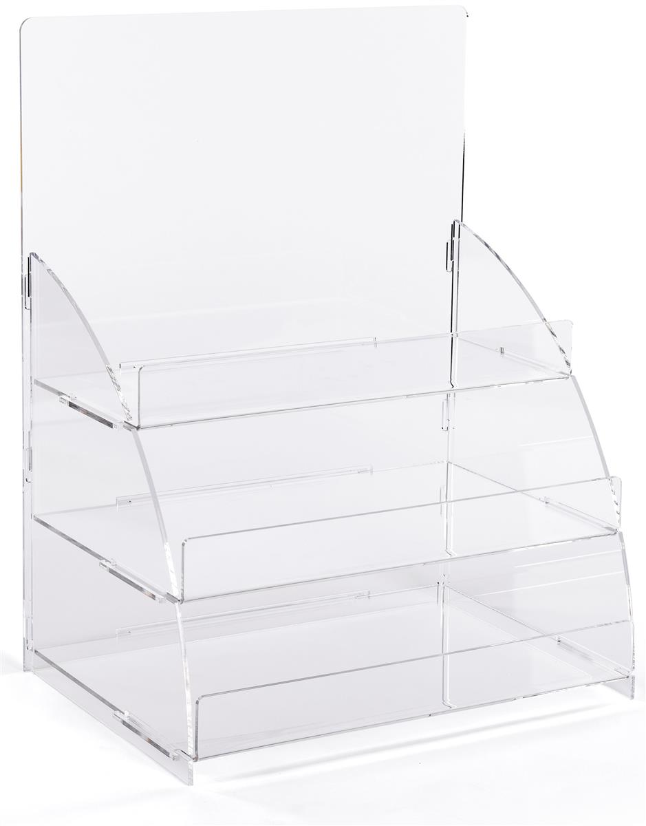 Countertop Acrylic Display 3 Tiers Clear