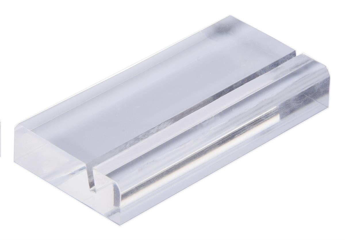 Acrylic Square Business Card Holder - Slotted