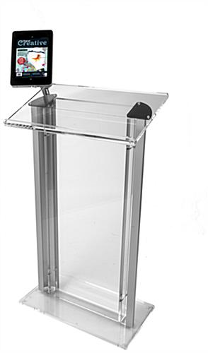 Speech Stand For Ipad Acrylic Lectern Amp Clamping Enclosure