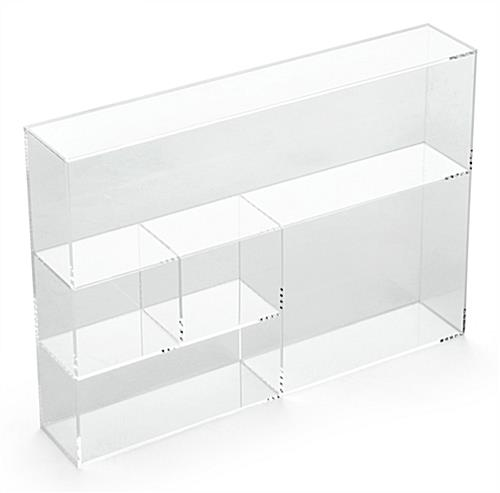5-Section Acrylic Divided Tray for Standing Countertop Use