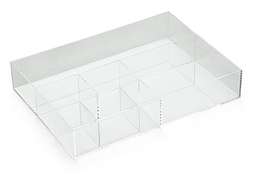 5-Section Acrylic Divided Tray with Clear Design
