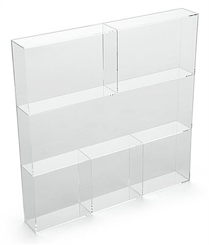 Acrylic Accessory Tray Standing Upright
