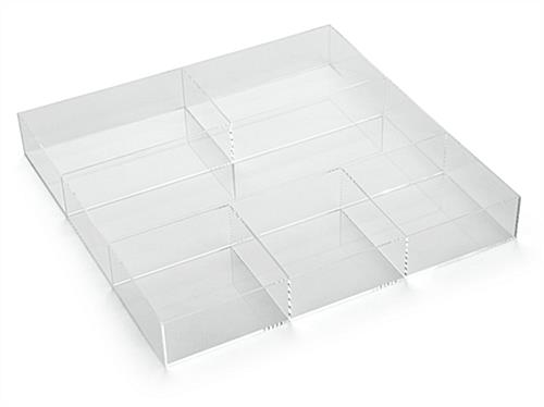 Acrylic Accessory Tray with Clear View & Open Top