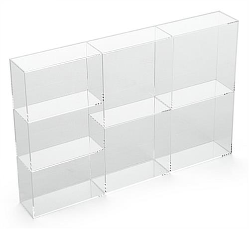 7-Section Acrylic Accessory Box Standing Up