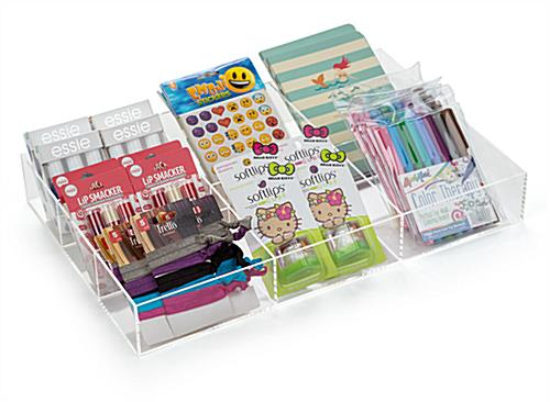 Propped 7-Section Acrylic Accessory Box