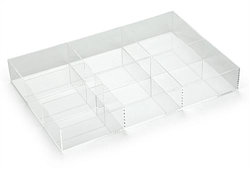 7-Section Acrylic Accessory Box  with Simplistic Design