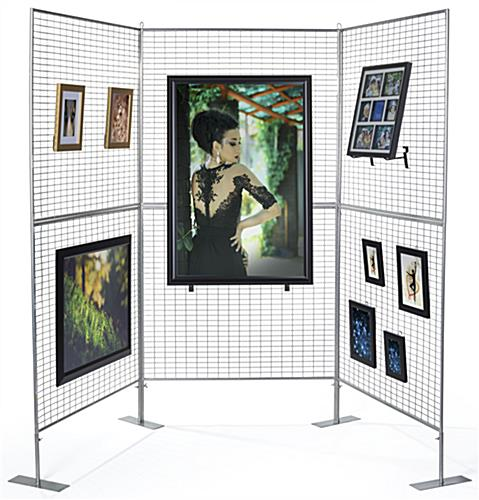 Portable Art Exhibition Stands : Panel art show display lightweight easy assembly