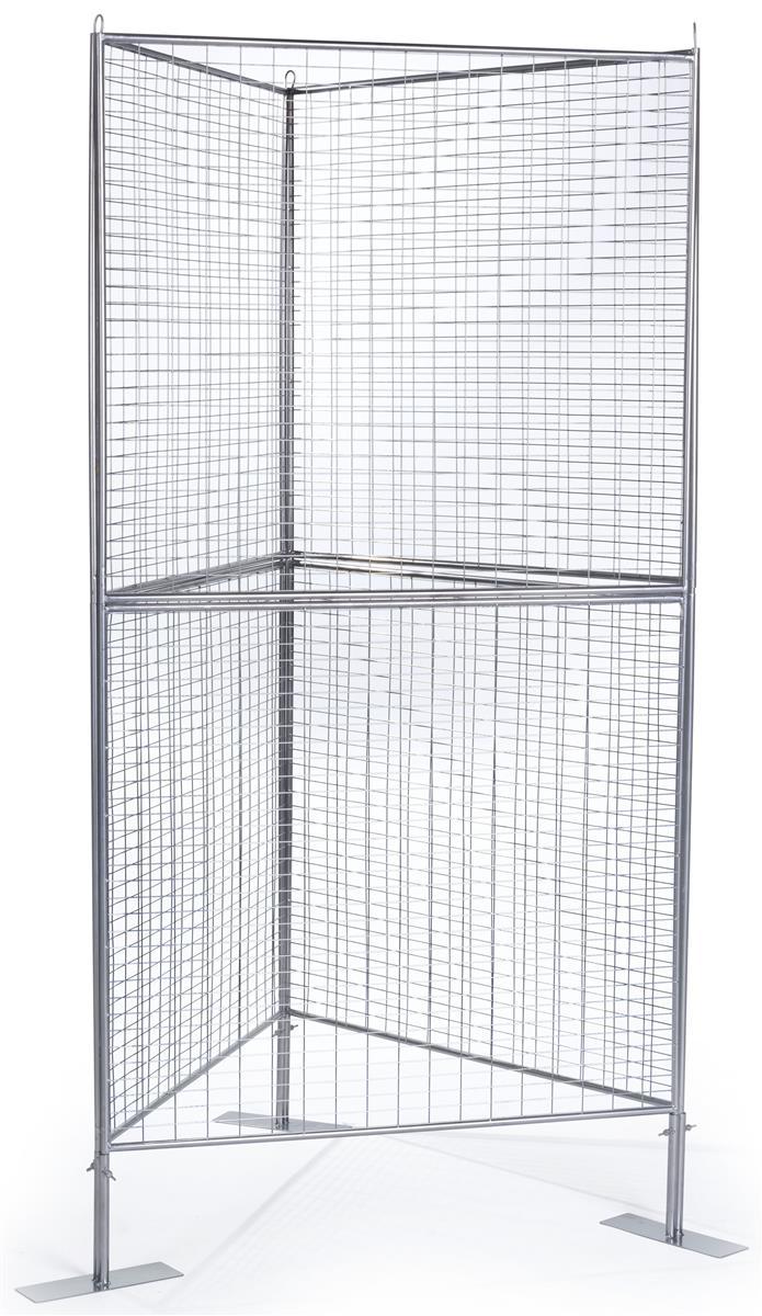 "Wire Art Display Panels | 2"" x 1"" Mesh Gridwall Pattern"