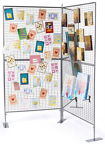 "Double Sided ""Y"" Shaped Art Display Grid"