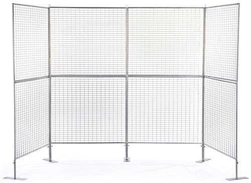 Wire Art Grid Panels Lightweight Iron Mesh Material