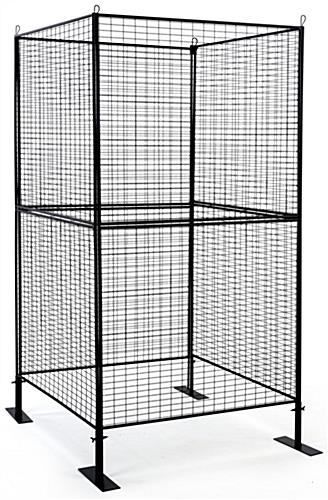 Square shaped craft booth metal grid panels