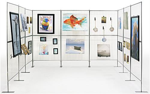 Art show display booth lightweight knock down design for Display walls for art shows