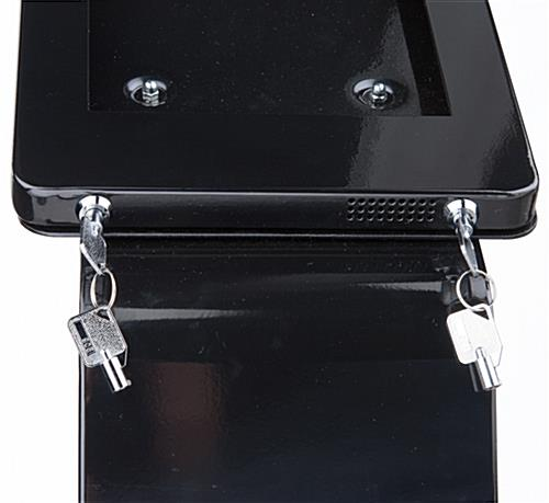 ADA iPad Pro enclosure POS stand with locks