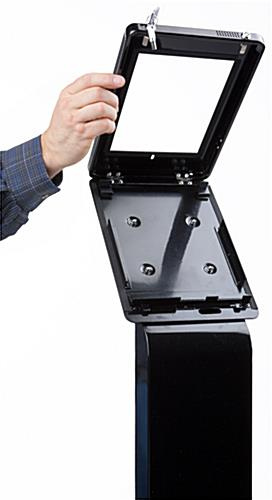 ADA compliant iPad Pro stand with hinged enclosure