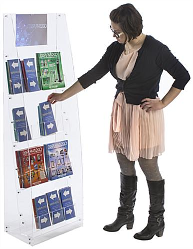 Acrylic Brochure Stand - Holds Magazines