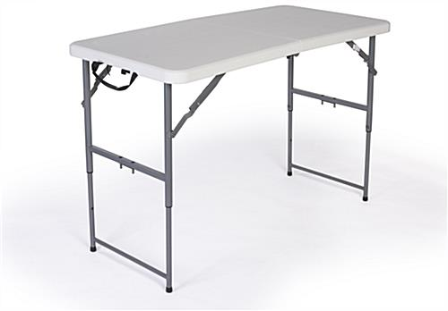 Folding Table With Adjustable Height ...