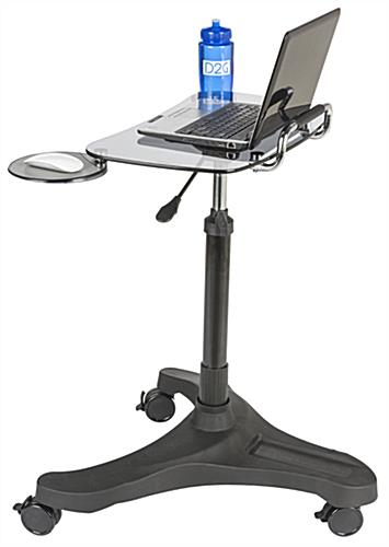 Rolling Laptop Workstation with Ergonomic Design